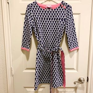VINTAGE LILLY PULITZER Navy Sweater Dress Size S